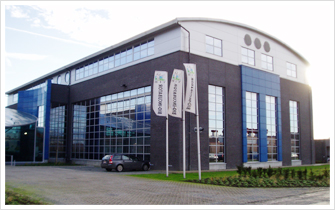 Exterior view, of bio-incubator facility located in the Technologiepark